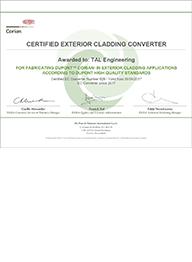 Сертификат Exterior Cladding
