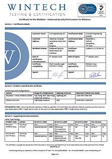 Certificate – WinMark – S10061-2